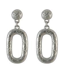Buy Oval Silver Drop Earring for Women danglers-drop online