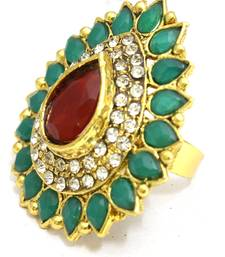 Buy Multicolour Bridal Polki Ring Ring online