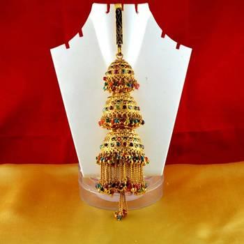 brooch satka gold platted stone meenakri cz ad moti pearl polki kundun