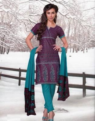 Dress material cotton designer prints unstitched salwar kameez suit d.no var7006