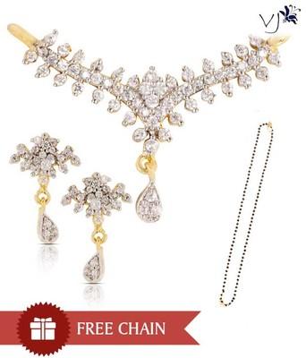Vatika Jewellers Plush Tanmaniya Pendant Set With Free Chain