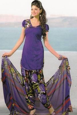Dress Material Crepe Unstitched Patiala Salwar Kameez Suit D.No 6159