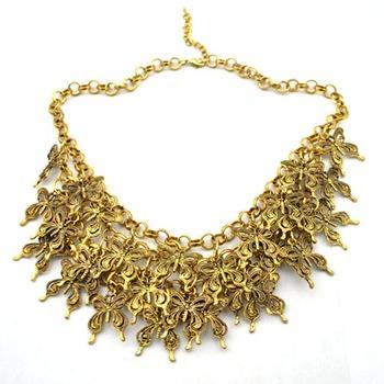Cluster butterflies necklace