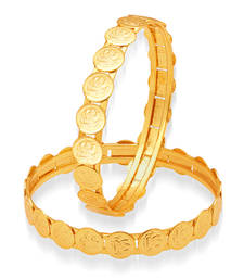 Buy Intricately Gold Plated Temple Jewellery Bangles bangles-and-bracelet online