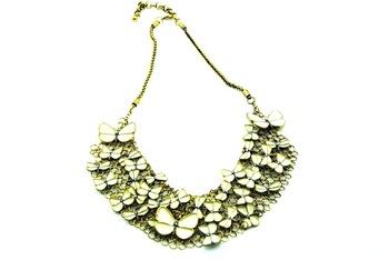 Butterfly enamel necklace