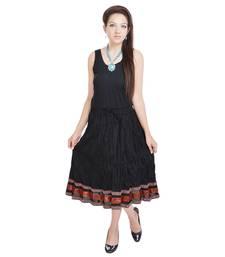 Buy Sunshine Fashionable n Ethnic Black Cotton Long Skirt navratri-skirt online