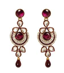 Buy beautiful Purple Earrings danglers-drop online