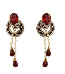 Buy awesome Maroon Earrings danglers-drop online