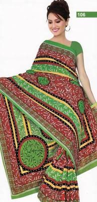 Elegant cotton saree with blouse piece d.no PS106