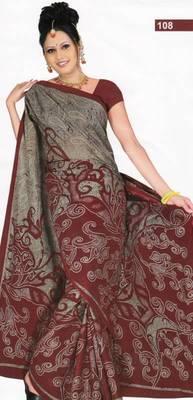 Elegant cotton saree with blouse piece d.no PS108