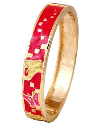Trendy Red Bangle in Brass Metal