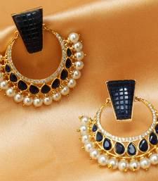 Buy Beautiful designer high gold plated semi precious stone earrings danglers-drop online