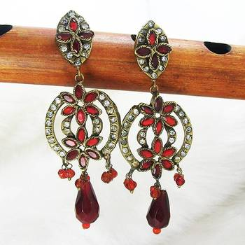 Victorian Danglers Tingy Red