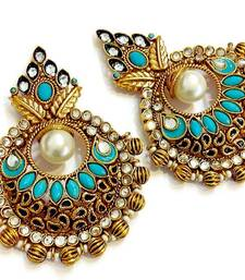 Buy Turquoise Pearl polki kundan studds black-friday-deal-sale online