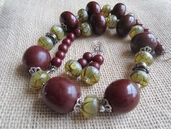 Ethnic necklace /Camelbone beads