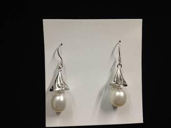 natural pearl jhumka
