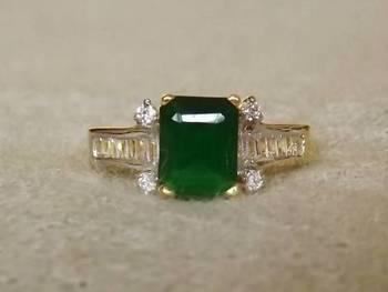 Emerald AZ Diamond Ring