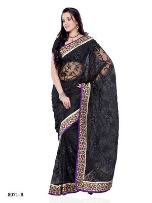 Bipasa Basu Style Bollywood Designer Saree in Super Net Fabric