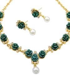 Buy silver alloy with gold plated stones sets gifts-for-sister online