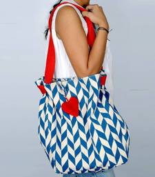 Buy Accrue with blue prints and heart shaped tassel.  women-accessory online