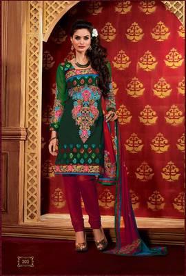 Chanderi Designer Unstiched Material