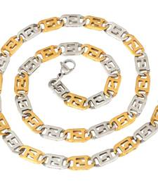 """Buy italian stainless steel puzzler two tone chain men 21"""" Necklace online"""
