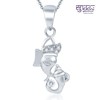 Sukkhi Classy Rodium plated CZ God pendants