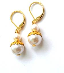 Buy Tutti Frutti Candy Colourful Golden Pearl ClassicEarrings danglers-drop online