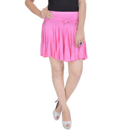 Buy Cotton Lycra Free Size Mini Skirt with Divider plus-size-skirt online