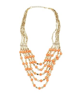 Multilayered Orange Neckpiece