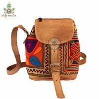 Stylish Embroidery Designs Handmade Leather Bag