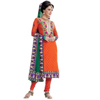 Hypnotex Pure Banarasi Jacquard Designer Dress Material 808