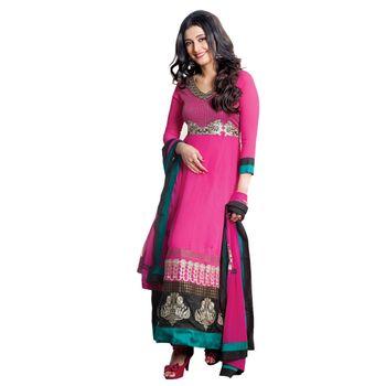 Hypnotex Faux Georgette Designer Dress Material 1603B