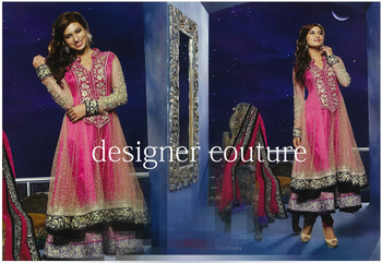 Beautiful Double layered pink heavy suit