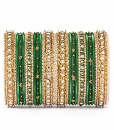 Buy Elegant silky appearance two hand bangle set bangles-and-bracelet online