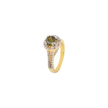 Heena Trendy green color stone Ring for women >> HJRN28 <<
