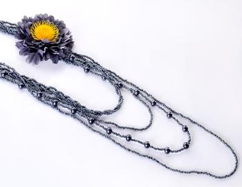 Black Sunflower Beads Fashion Set