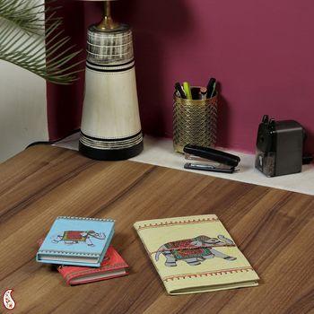 Regal Royal Elephant printed Hand Made Paper Diary set