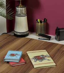 Buy Regal Royal Elephant printed Hand Made Paper Diary set stationery online