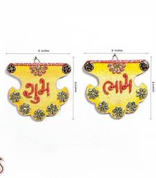 Buy Shubh Labh Wood and Clay work Wall Art Hanging other-home-accessory online