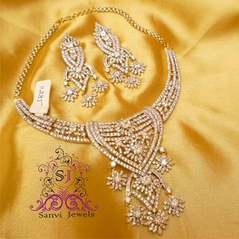American Diamond Princess Necklace Set