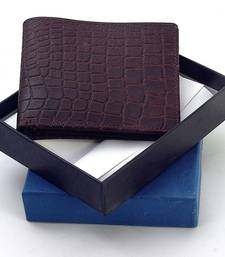 Buy Gents Supreme Quality Pure Leather Brown Wallet Deepawali Special Gift 111 Bag online