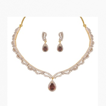 Heena Contemporary collection Necklace set >> HJNL113BR <<