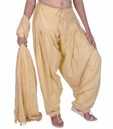 Buy Beige Rogan Printed Cotton Patiala & Dupatta Set salwars-and-churidar online