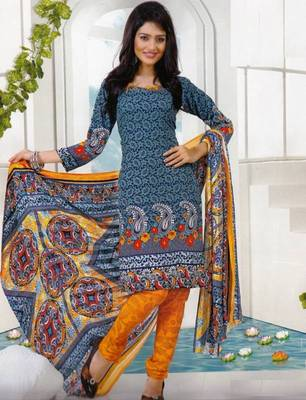 Dress material crepe designer prints unstitched salwar kameez suit d.no AP819