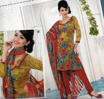 Dress material crepe designer prints unstitched salwar kameez suit d.no AP820