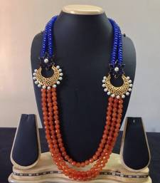 Buy 2 SIDE BLUE ORANGE NECKLACE Necklace online