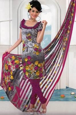 Dress material crepe designer prints unstitched salwar kameez suit d.no AP806