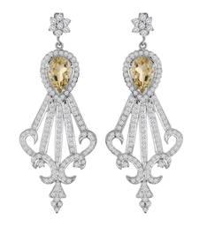 Buy Star Shape 925 Sterling Silver with Peridot Women Earrings punjabi-jewellery online