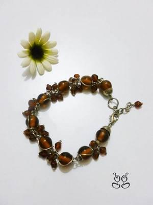 Brown Beads Fancy Bracelet